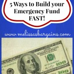 Five Ways to Build Your Emergency Fund FAST!