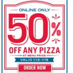 Domino's Pizza 50% off!