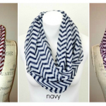 Chevron Print Infinity Scarves on sale for $6.95 shipped!