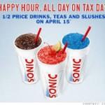 Tax Day Freebies List!