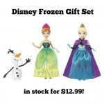 Frozen Gift Set with Elsa, Anna & Olaf only $12.99!
