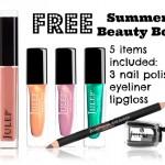 FREE Julep summer beauty box: nail polish, lip gloss & more!