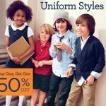 Gymboree Back to School Sale:  BOGO 50% off plus FREE SHIPPING!