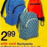Walgreens Backpacks only $2.99!