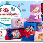 Disney Store Personalized Fleece Blankets only $11!