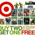 LAST DAY:  Target Buy 2, get 1 free video games sale!