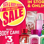 Bath & Body Works Semi-Annual Sale: save up to 75% off!