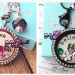 Custom Floating Locket plus chain and charms only $19.99!