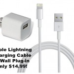 Apple Brand Lightning iPhone/iPad Charger and Wall Plug only $14.99!