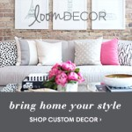 Design your own window treatments, bedding & more with Loom Decor!