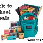 Back to School Deals for the week of 7/12