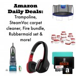 Amazon Daily Deals:  SteamVac carpet cleaner, Fire tablet, trampoline & more!