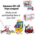 Amazon 20% off toys coupon!