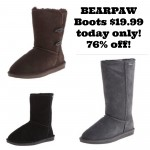 BEARPAW Boots $19.99 today only!