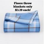 Kohl's Fleece Throws as low as $3.39 shipped!