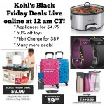 Kohl's Black Friday Ad Live online TONIGHT!