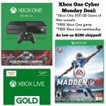 Xbox One Cyber Monday Deal: console, game, Xbox Live for $280 shipped!