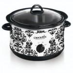 Crock Pot Black Demask 4 1/2 Quart Slow Cooker only $15.99!