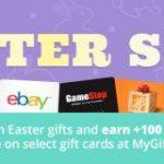 Earn a Swagbucks bonus with the MyGiftCards Plus Easter Sale!
