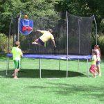 Skywalker Trampoline plus basketball hoop only $249!