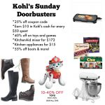 Kohl's 25% off coupon plus Sunday doorbusters!