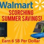 Earn extra SB during Walmart's Scorching Summer Savings Sale!
