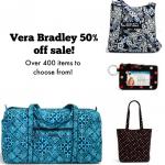 Vera Bradley 50% off Black Friday sale!