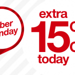 Target Cyber Monday Deals:  Extra 15% off plus more!