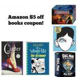 Amazon $5 off $15 books coupon expires today!